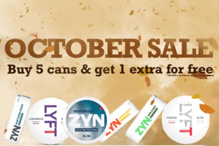 October snus sale