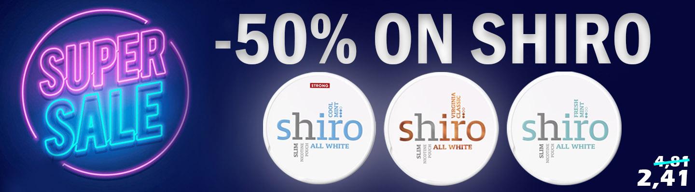 Super Sale on Shiro at Snus24