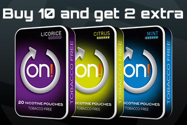 Buy 10 on! and get 2 extra for free
